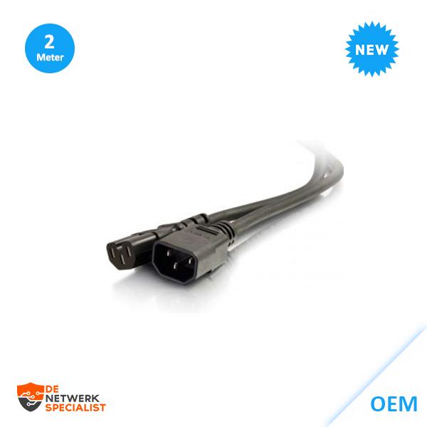 2m kabel C14 to C16 Power Extentie Netsnoer voor PoE switches naar UPS 80634