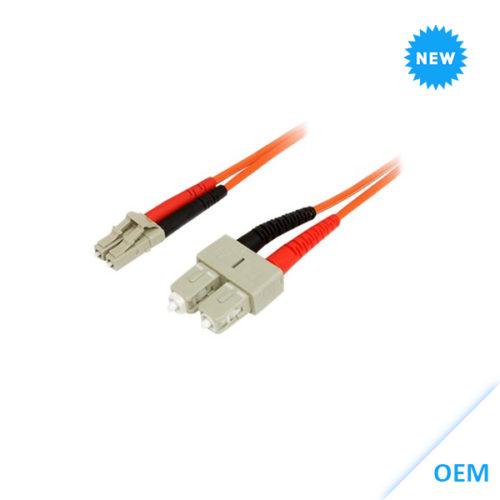 LC-SC 10GbE MM Duplex 3m LSZH Fibre Cable 50/125 OM3 kabel DX-OM3-LCSC-003-ORG
