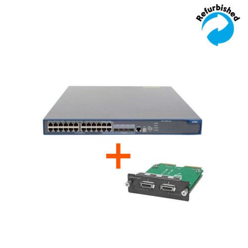 HP A5120-24G-PoE EI Layer 3 Switch bundle incl. 1x JD360B JE070A 0885631201930